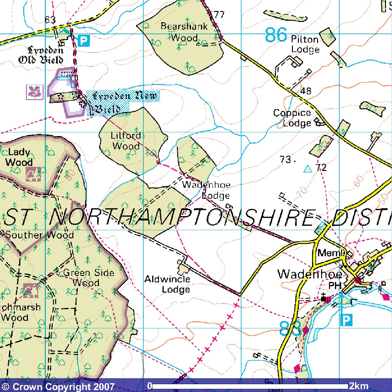 Location of Cottage on an OS Map